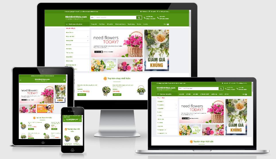 Theme wordpress bán hoa
