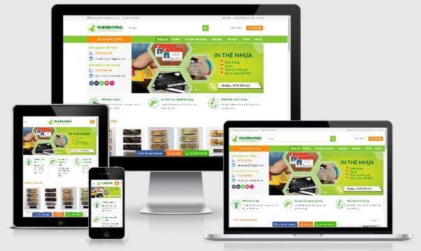 Theme wordpress giới thiệu dịch vụ in thẻ