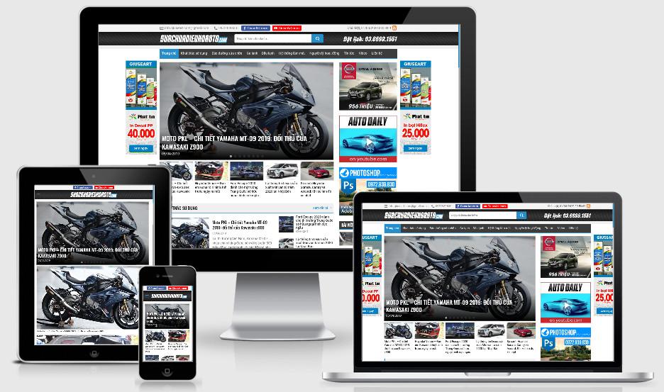Theme wordpress tin tức review xe