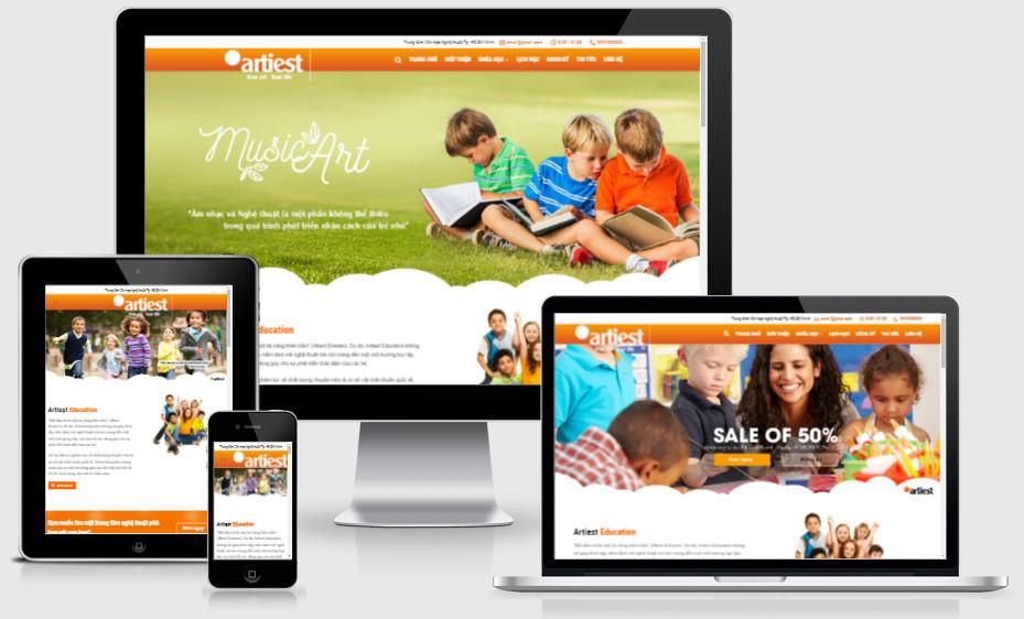 Theme wordpress giới thiệu dịch vụ dạy đàn